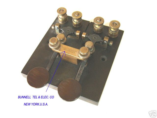 Cable key by Bunnell Telegraph   Electric Co 33b0c2e78